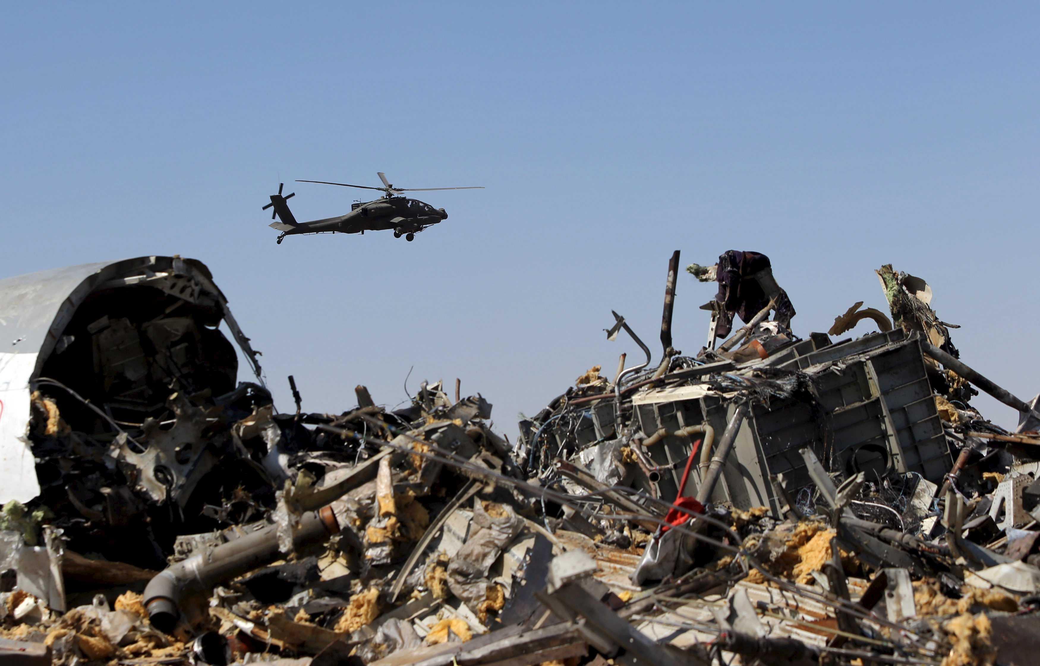 Фото с обломками самолета упавшего в египте