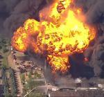 В США произошел масштабный пожар на химзаводе