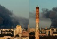 Донецк, взрыв, пожар