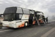 загорелся автобус в Венгрии