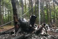 место крушения вертолета Ми-8
