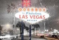 Лас-Вегас, снегопад