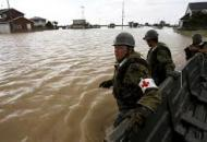 Япония, тайфун, наводнение