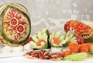 Карвинг — искусство фигурной резьбы по фруктам и овощам