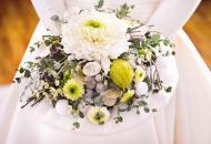 свадебный букет из хризантем