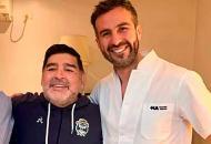 Диего Марадона и Леопольдо Луке