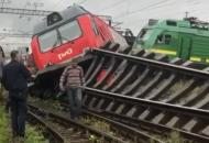 столкнулись поезда