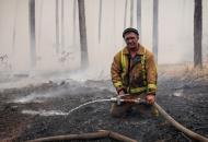 Луганская, пожары