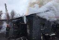 В Лисичанске в сгоревшем доме спасатели обнаружили тело мужчины