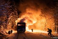 В Чехии горел пассажирский поезд