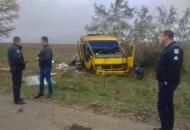 В Херсонской области перевернулся автобус с людьми