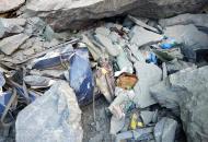 Обвална горной дорогев Пакистане: камни раздавили автобус с людьми