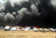 Индия, пожар