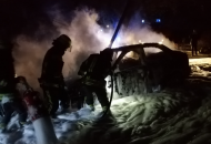В Северодонецке ночью сгорели два автомобиля