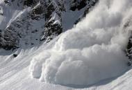 США, Калифорния, снежная лавина