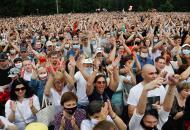 В Минске прошел массовый митинг в поддержку соперницы Лукашенко