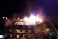Франция, пожар