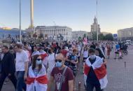 В Киеве прошел марш солидарности с белорусами