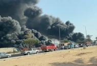 Взрыв ипожар на нефтепроводе в Египте