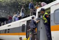 НаТайване сошел срельсов пассажирский поезд