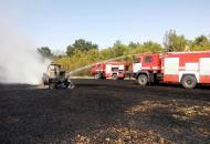 Луганская, пожар
