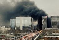 Париж, пожар