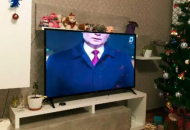 В России телеканал показал новогоднее поздравление Путина с обрезанной головой