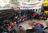 В Киевепроходит всеукраинская акция протеста горняков