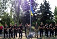 В Лисичанскеподняли Государственный Флаг Украины