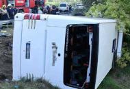 В Венгрии перевернулся пассажирский автобус