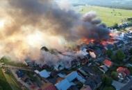 Польша, пожар