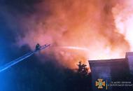 Масштабный пожар в Запорожье