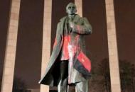Во Львове осквернили памятник Бандере