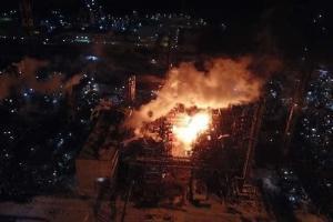 Ивано-Франковская, пожар на химзаводе