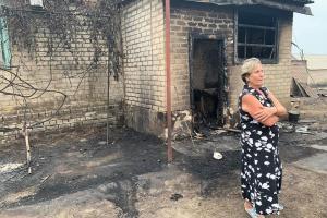 пострадавшие при пожарах на Луганщине