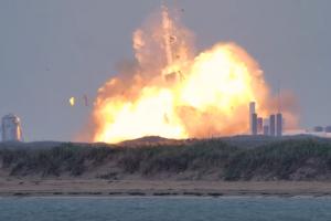 Прототип космического корабля Starship взорвался при испытаниях