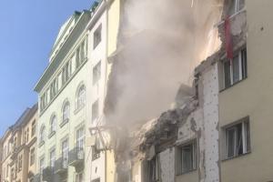 Вена, обрушение дома