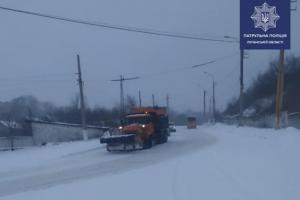 Луганская, снегопад