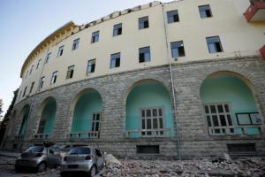 Албания, землетрясение
