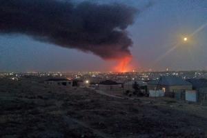 Баку, пожар