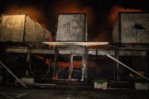 Киев, поджог магазинов