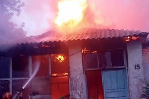 Лисичанск, пожар