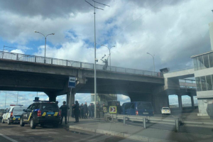 В Киеве неизвестный угрожает взорвать мост Метро