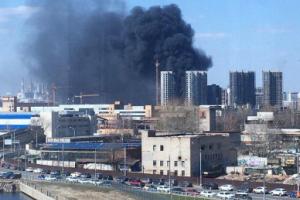 Москва, пожар