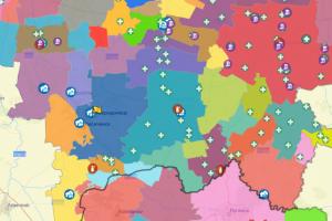 Луганская, децентрализация, карта
