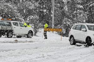 На юго-восток Австралии обрушился сильный снегопад