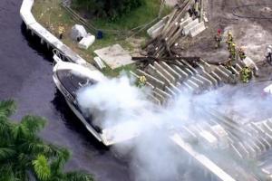 В США в результате взрыва и пожара на прогулочном катере пострадало13 человек