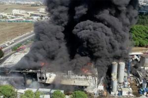 взрыв на химзаводе в Турции
