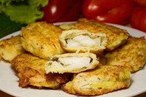 Рыбное филе в картофельной стружке
