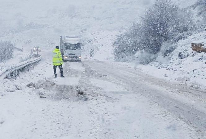 Израиль, снегопад